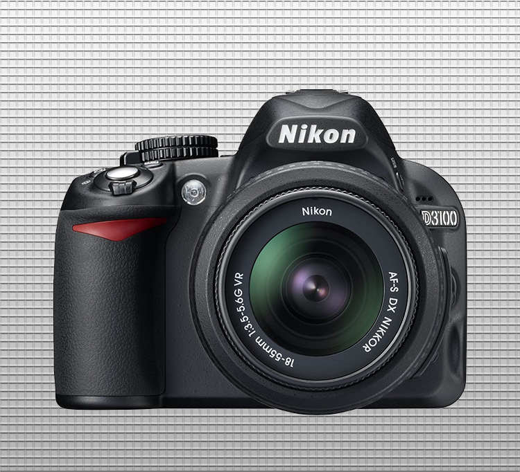 Nikon D3100 finished