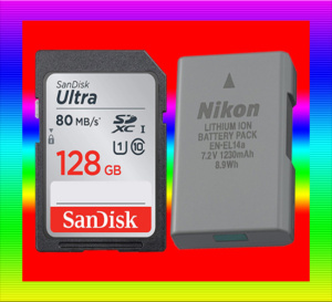 Sd card and battery